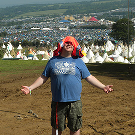 Rob Donovan working for DC Site Services at Glastonbury Festival