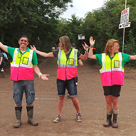 DC Site Services Event Traffic Staff working at the 2014 Glastonbury Festival