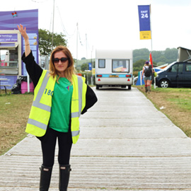 DC Site Services traffic staff working at the Glastonbury Festival