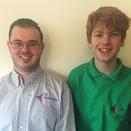 Ed Hawker and Julian Arnold joining the DC Site Services team